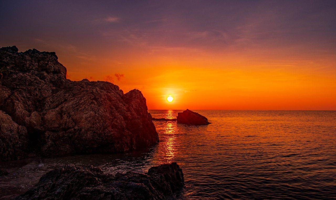 Japon, coucher de soleil