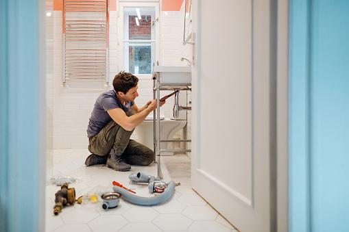 Travaux de rénovation par un artisan